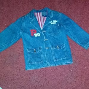 Youth boy 3T denim U.S POLO ASSN jacket
